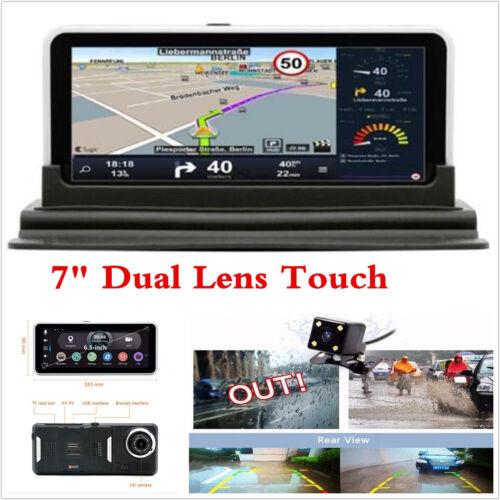 1080P Android HD Car DVR GPS Navigation DVR Camera Recorder Rearview Cam 7''