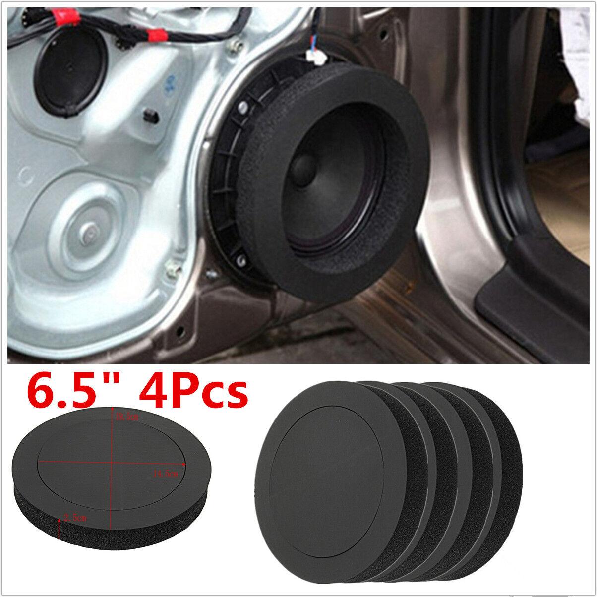 "Car Parts - 4x Black 6.5"" FAST Foam Rings Car Door Speaker Enhancer System Kit Universal"
