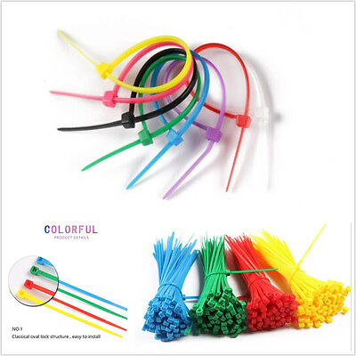400 Pcs Colorful Autos Self-Locking Nylon Plastic Cable Wire Zip Ties Cord Strap Montreal Zip