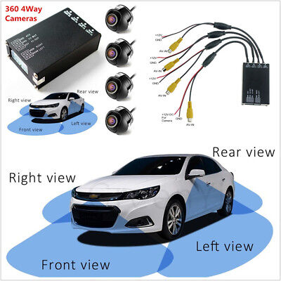 Autos Parking Panoramic View All Round Car 4 Way Camera Rearview Monitor System