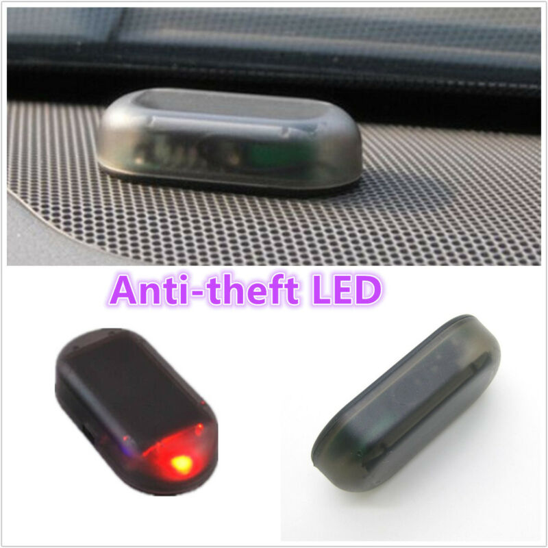 Red LED Solar Energy Power Car Interior  Dummy Alarm Light Anti-theft Flash Lamp