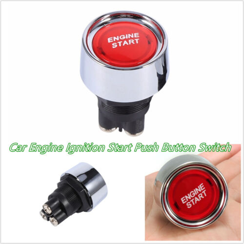 Red LED DC12V-24V 50A Autos Offroad Engine Ignition Start Push Button Switch Kit