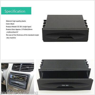 Universal Single Din Car Cd Player Radio Stereo Dash Trim Storage Pocket Box Kit