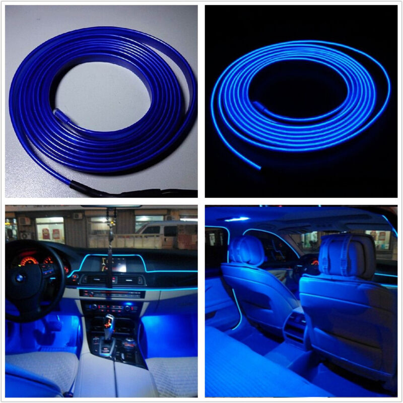2 Meter Interior Decoration Atmosphere Glow  Light blue Cold EL Wire For Lexus