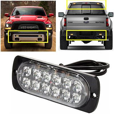 Ultra Slim Bright Car Truck 12 LED Surface Mount Flashing Strobe Warning Lights