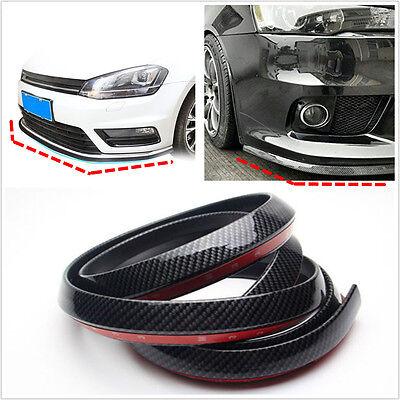 25m Carbon Fiber Car Front Bumper Spoiler Lip Splitter Valance Chin Protector