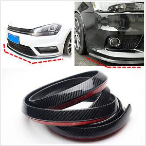 2.5m Carbon Fiber Car Front Bumper Spoiler Lip Splitter Valance Chin Protector