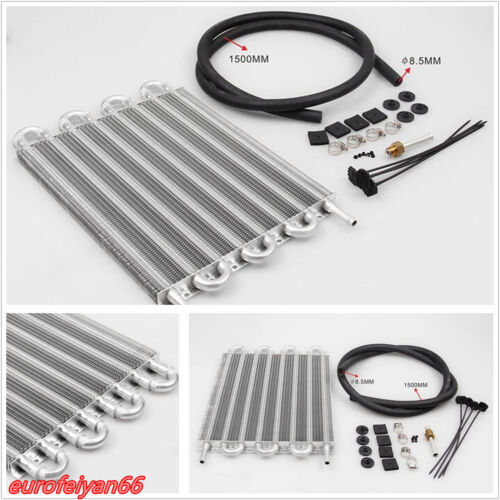 Vehicle Professional 8-Row Aluminum Remote Transmission Oil Cooler Radiator Kit