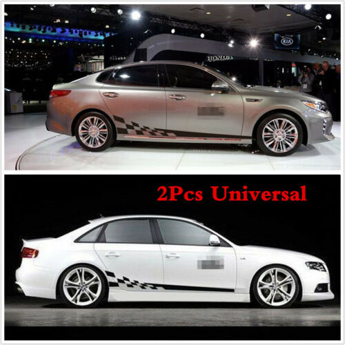 2 Pcs Car Body Decal Vinyl Graphics Side Stickers Racing Sport Decals Sticker