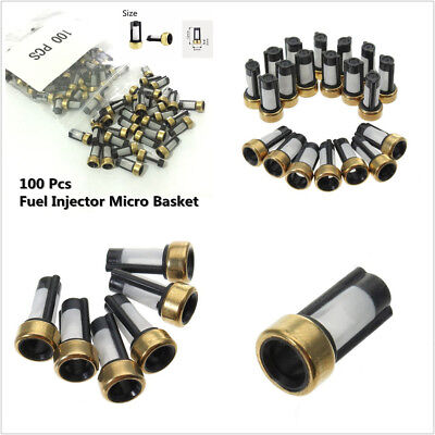 100 X Car SUV Fuel Injector Micro Basket Filter For ASNU03C Injector Repair Kit