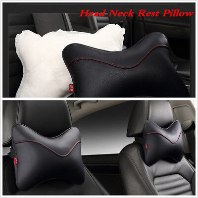 For All Vehicles PU Safety Car Headrest Breathe Seat Head Neck Rest Pillow 2PCS
