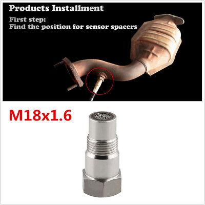 Vehicle O2 Spacer Oxygen Sensor Extension M18x1.6 CEL Fix Adjustable Universal