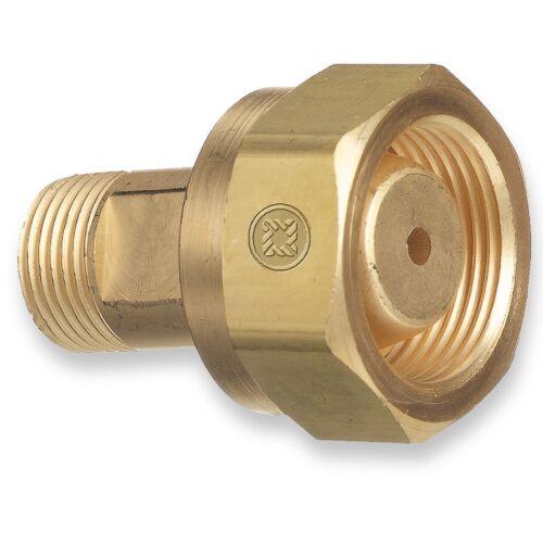 Adaptor #306, CGA-520 B Tank Acetylene to CGA-200 MC Acetylene Regulator