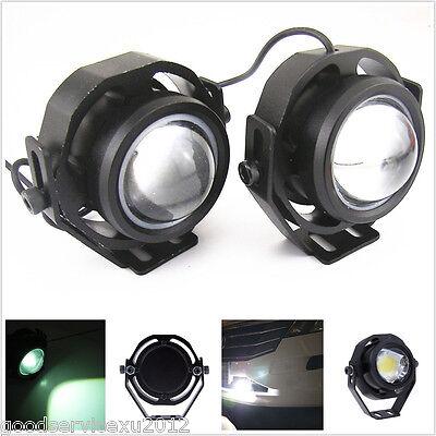 2 Pcs White LED CREE U2 Fisheye Car Off-Road Fog Lights DRL Tail Reversing Lamps