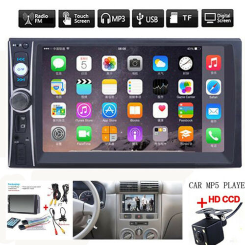 "Car Parts - 2DIN 7"" HD Car Stereo Radio MP5 Player Bluetooth Touch Screen With Rear Camera"