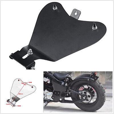 Black Heavy Duty Steel Motorclce Atv Solo Seat Baseplate Bracket Base For Harley