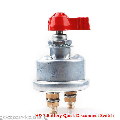 HD 2 Post Racing Master Battery Quick Disconnect Cut/Shut Off Safety Kill Switch