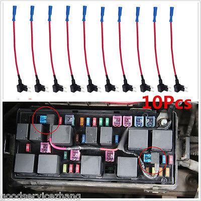 10x Ato Atc Add A Circuit Fuse Tap Piggy Back Standard Blade Fuse Box Holder Diy