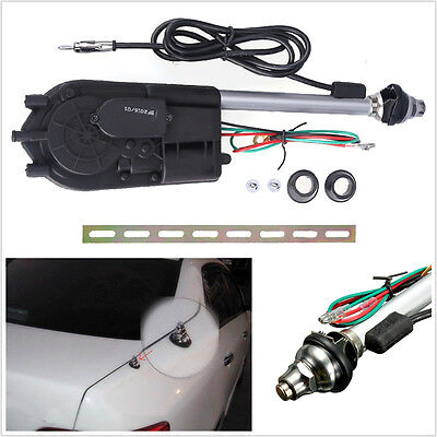 New 12V Car Off Road Am Fm Radio Mast Power Booster Electric Antenna Aerial Kit