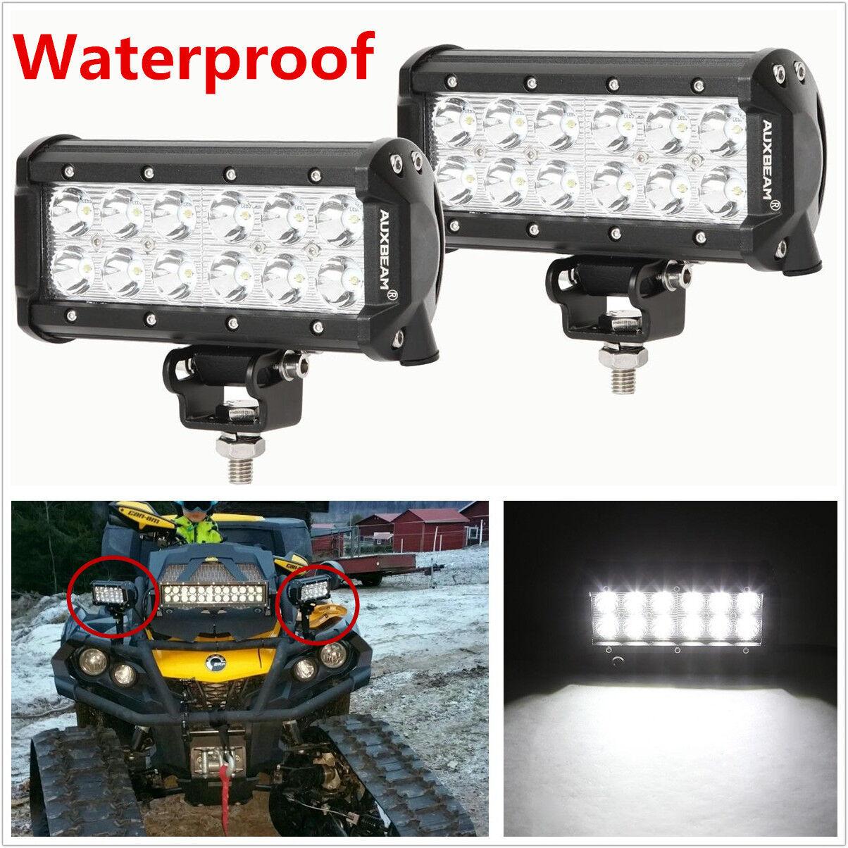 "2 Pcs 9-32V 6500K 7"" LED CREE Car SUV 4X4 Working Lights Flood Lamps Waterproof"