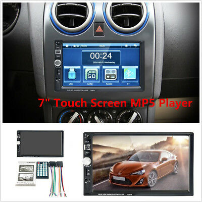 7  Hd 2 Din Car Stereo Mp5 Mp3 Player Bluetooth Touchscreen Radio Mirror Link