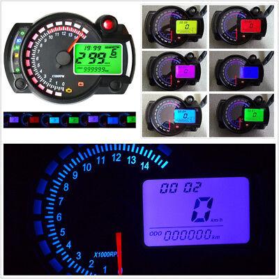 7 COLOR LED MOTORCYCLE ATV LCD DIGITAL SPEEDOMETER TACHOMETER METER 15