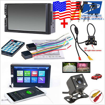 7Inch 2 Din HD Car Bluetooth Video MP5 Music Player Audio Stereo FM USB Camera
