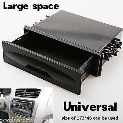 Universal Car Auto Single Din Dash Radio Installation Pocket Kit Storage Box