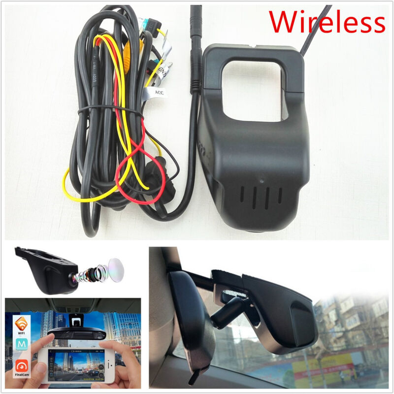160° Wide Angle HD 1080P Vehicle Hidden Wireless Camera Video Recorder Dash Cam