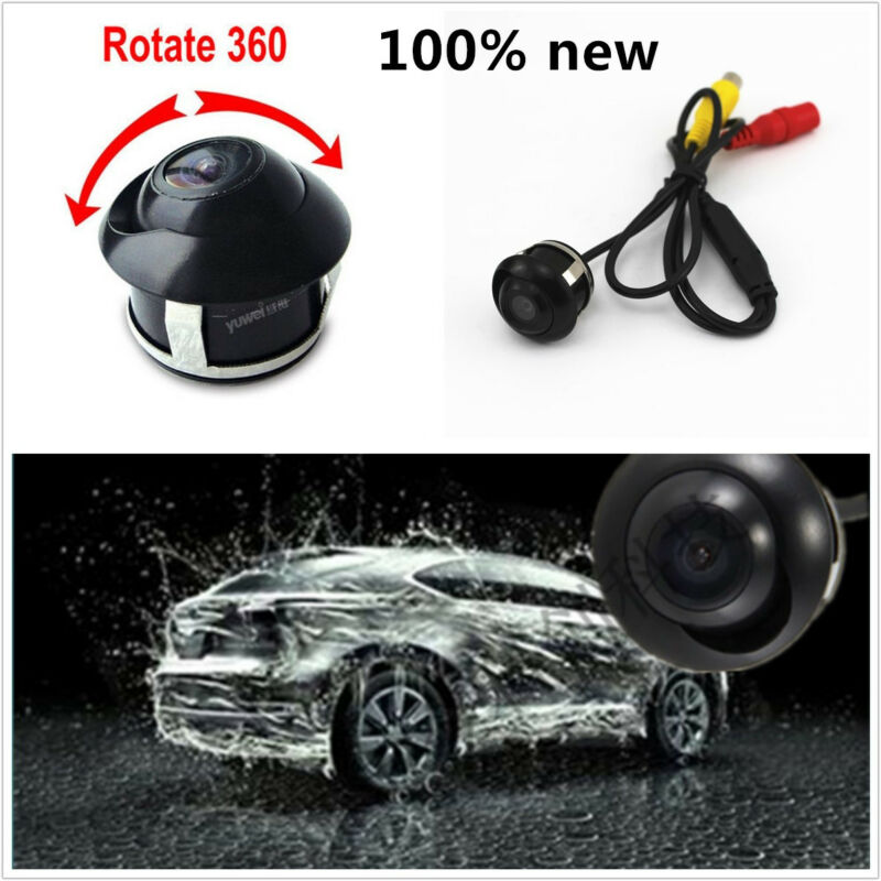New Type Wide Angle 360° Rotatable Car Reaview Reverse Backup Parking Camera Kit