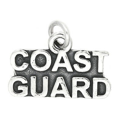 Sterling Silver Coast Guard Charm Pendant