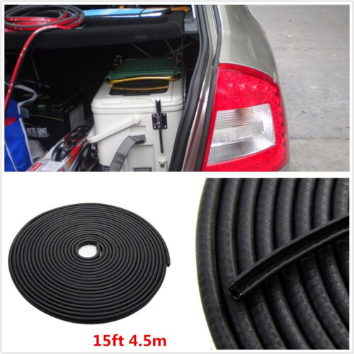 DIY 4.5m Black U-Style Car Automobile Body Door Edge Protector Rubber Seal Strip