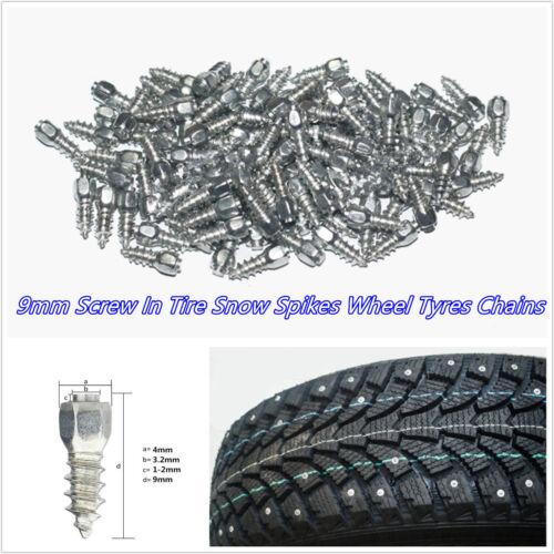 100 Pcs/Set 9mm Screw In Tire Stud Car ATV Motorcycle Snow Chain Non-Slip Spikes