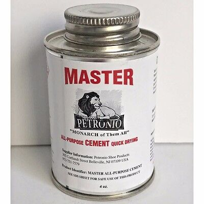 Contact Cement - Petronios Master Contact Cement 4oz Glue Shoe sole Adhesive Shoe Repair Cement