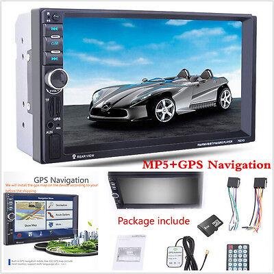 "7"" HD Car Bluetooth MP5+GPS Navigation FM TV Touch MP3 Player Radio Stereo"