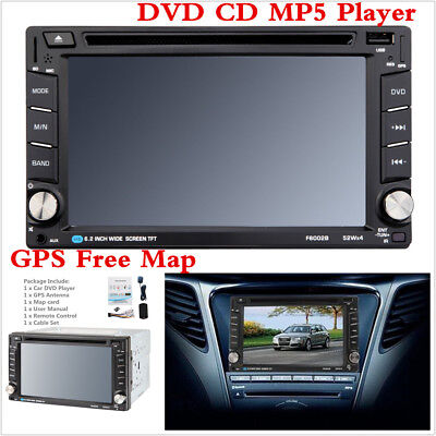 "6.2"" HD 2DIN Car DVD CD MP5 Player Head Unit Radio Stereo Bluetooth+GPS Map Card"