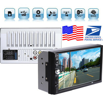 7'' Touch Screen Car Radio Audio Stereo MP5 Player 2Din FM Bluetooth+Camera USA