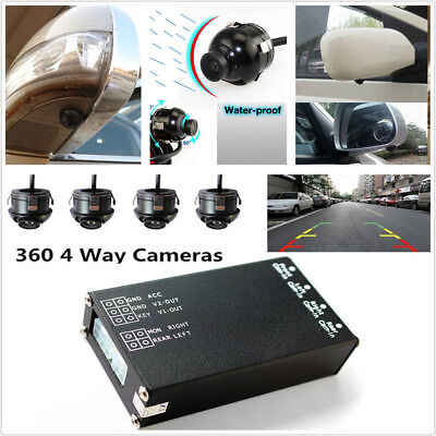 Panoramic View All Round Rearview Camera System W/ Monitor System 360° View