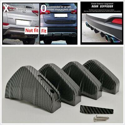 4Pcs/Set Universal Car SUV Rear Bumper Diffuser Shark Fin Spoiler Wing Splitter