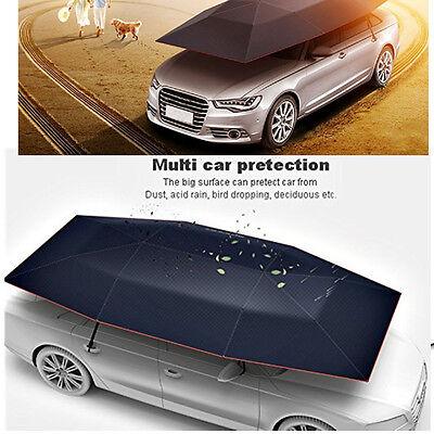 Portable Semi-automatic Car Umbrella Sun Shade Roof Cover UV Protection BLACK