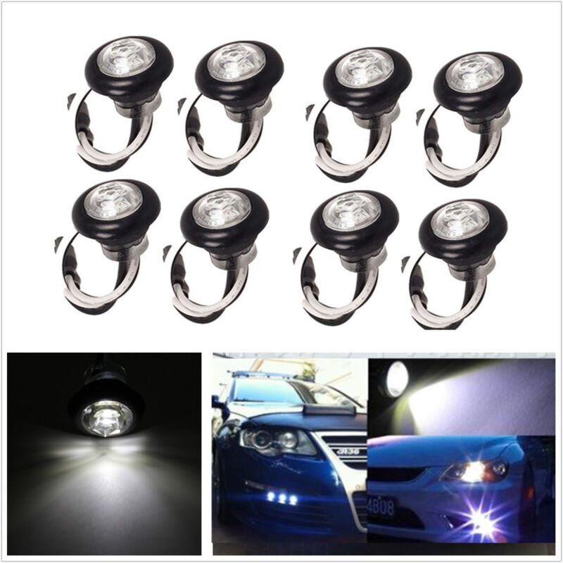 8pc LED White Grille Lighting Fit Truck SUV For Ford SVT Raptor Style Universal
