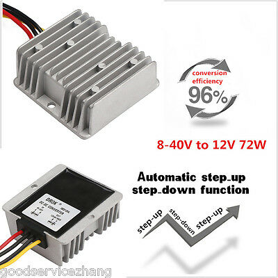 8-40v To 12v 72w Car Power Supply Regulator Automatic Voltage Stabilizer Convert