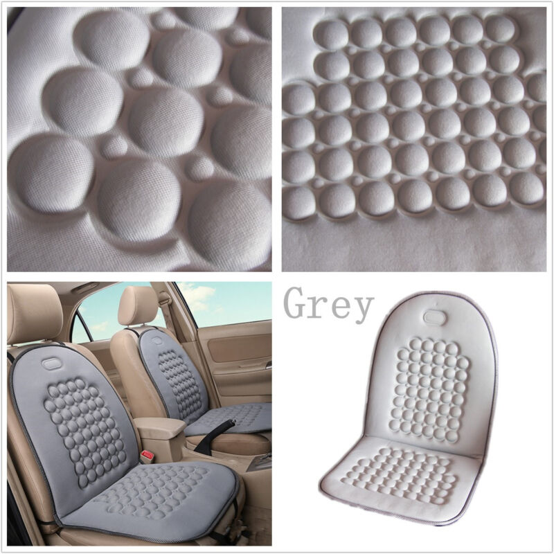 Multifunction Grey Cozy Car off-Road Seat Massage Relaxing Cushion Cover Mat Pad