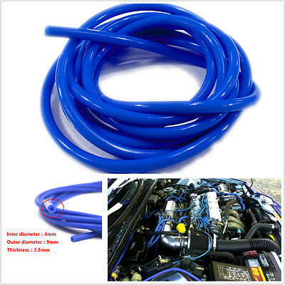 Blue Car Engine 4mm Silicone Vacuum Tube Hose Silicon Tubing 16.4ft 5 Meters Kit