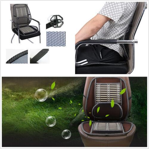 Comfortable Mesh Bamboo Lumbar Brace Back Support Car SUV Seat Chair Cushion Pad
