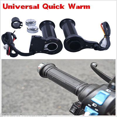 """New 7/8""""22mm Motorcycle Electric Hand Heated Molded Grips ATV Warmers Handlebar"""