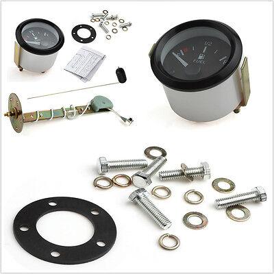 12V Mini Round Automobile LED Fuel Level Gauge Meter &Sensor E/1/2/F Pointer Kit