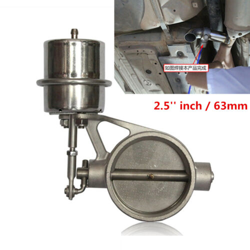 2.5'' inch Stainless Steel Exhaust Control Valve Set Vacuum Actuator Open Style