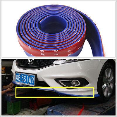 25m BLUE Car Front Bumper Spoiler Lip Kit Splitter Valance Chin Protector Kits