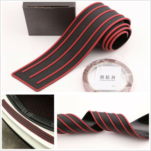 Red/black Door Sill Guard Car Body Bumper Protector Trim Cover Protective Strip